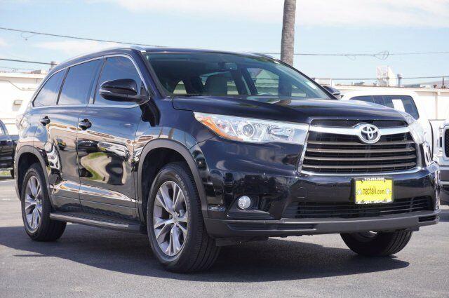Owner 2015 Toyota Highlander Xle 54640 Miles Attitude Black Metallic Sport Utility Reg