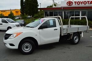 2014 Mazda BT-50 UP0YD1 XT 4x2 White 6 Speed Manual Cab Chassis Highland Park Gold Coast City Preview