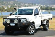 2015 Toyota Hilux KUN26R MY14 SR White 5 Speed Manual Cab Chassis Derwent Park Glenorchy Area Preview