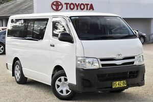 2012 Toyota Hiace TRH201R MY12 Upgrade LWB White 5 Speed Manual Van Watanobbi Wyong Area Preview