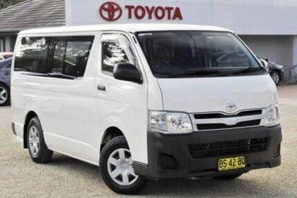2012 Toyota Hiace TRH201R MY12 LWB White 5 Speed Manual Van