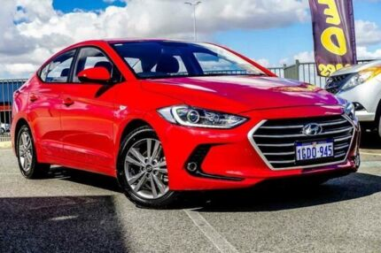 2016 Hyundai Elantra MD Series 2 (MD3) Active Red 6 Speed Automatic Sedan Wangara Wanneroo Area Preview