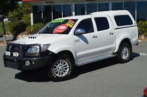 2013 Toyota Hilux KUN26R MY12 SR5 Double Cab White 4 Speed Automatic Utility Highland Park Gold Coast City Preview