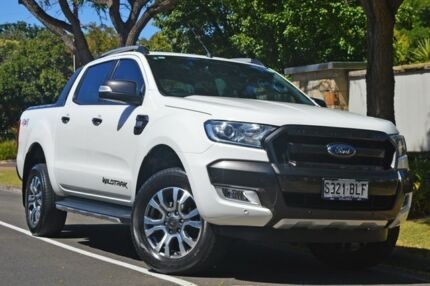 2016 Ford Ranger PX MkII Wildtrak Double Cab White 6 Speed Manual Utility Medindie Walkerville Area Preview