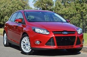 2011 Ford Focus LW Sport PwrShift Red 6 Speed Sports Automatic Dual Clutch Hatchback Thorngate Prospect Area Preview
