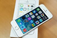 IPHONE 5S SILVER COMME NEUF WITH WARRANTY