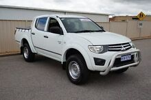 2011 Mitsubishi Triton MN MY12 GLX Double Cab White 5 Speed Manual Utility Pearsall Wanneroo Area Preview