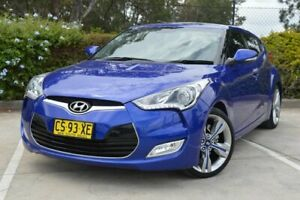 2012 Hyundai Veloster FS + Coupe D-CT Blue 6 Speed Sports Automatic Dual Clutch Hatchback
