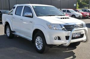 2014 Toyota Hilux KUN26R MY14 SR5 Double Cab White 5 Speed Automatic Utility Knoxfield Knox Area Preview