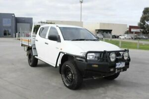 2008 Mitsubishi Triton ML MY09 GLX (4x4) White 5 Speed Manual 4x4 Cab Chassis Hoppers Crossing Wyndham Area Preview