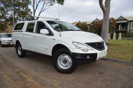 2010 Ssangyong Actyon Sports 100 Series MY11 Sports White 5 Speed Manual Utility