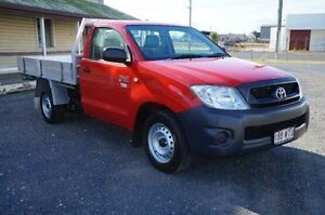 2008 Toyota Hilux TGN16R MY09 Workmate Red 5 Speed Manual Cab Chassis Rockhampton Rockhampton City Preview