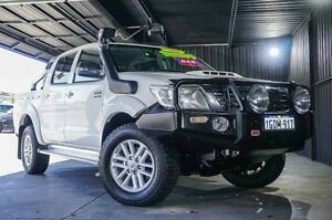 2011 Toyota Hilux KUN26R MY12 SR5 Double Cab White 5 Speed Manual Utility Wangara Wanneroo Area Preview