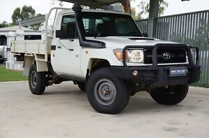 2012 Toyota Landcruiser VDJ79R MY10 Workmate French Vanilla 5 Speed Manual Cab Chassis Dalby Dalby Area Preview