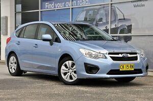 2012 Subaru Impreza G4 MY12 2.0i AWD Light Blue 6 Speed Manual Hatchback South Lismore Lismore Area Preview