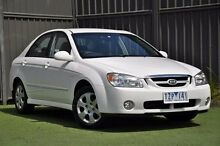 2005 Kia Cerato LD MY06 EX White 5 Speed Manual Sedan Knoxfield Knox Area Preview
