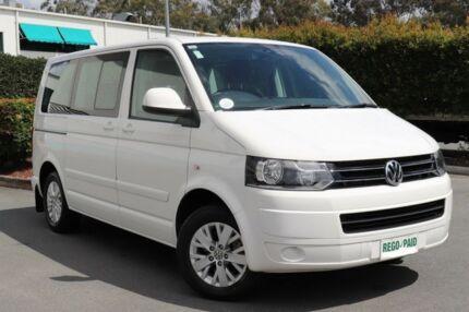 2014 Volkswagen Multivan T5 MY14 TDI340 DSG Comfortline White 7 Speed Sports Automatic Dual Clutch Acacia Ridge Brisbane South West Preview