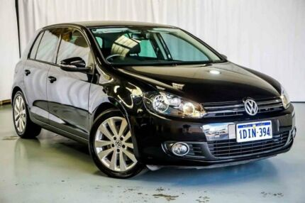2010 Volkswagen Golf VI MY10 118TSI DSG Comfortline Black 7 Speed Sports Automatic Dual Clutch