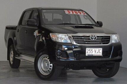 2014 Toyota Hilux KUN26R MY14 SR Double Cab Black 5 Speed Automatic Utility