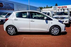 2016 Toyota Yaris NCP130R Ascent White 5 Speed Manual Hatchback