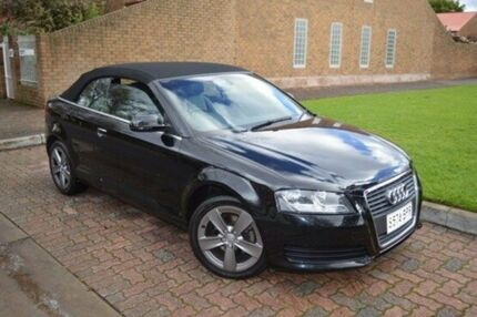 2010 Audi A3 8P MY10 TFSI S tronic Attraction Black 7 Speed Sports Automatic Dual Clutch Convertible Stepney Norwood Area Preview