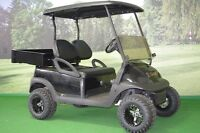 "Electric Golf Cart with 3"" Lift Kit & Cargo Box"
