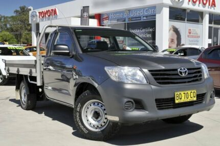 2012 Toyota Hilux TGN16R MY12 Workmate Grey 5 Speed Manual Cab Chassis Wyoming Gosford Area Preview