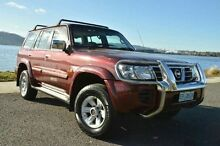 2002 Nissan Patrol GU III MY2002 TI Red 5 Speed Sports Automatic Wagon Derwent Park Glenorchy Area Preview