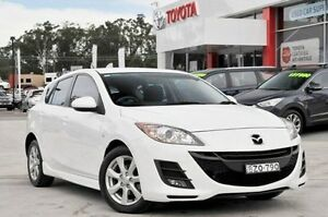 2011 Mazda 3 BL 10 Upgrade Maxx White 6 Speed Manual Hatchback Wyoming Gosford Area Preview