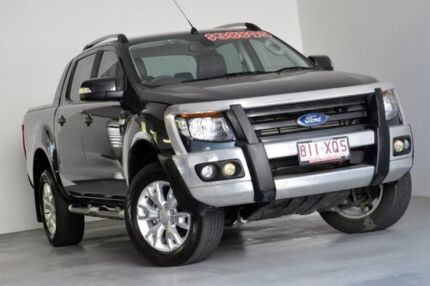 2013 Ford Ranger PX Wildtrak Double Cab Grey 6 Speed Sports Automatic Utility Kedron Brisbane North East Preview