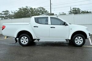 2014 Mitsubishi Triton MN MY15 GLX Double Cab White 4 Speed Sports Automatic Utility Gosford Gosford Area Preview
