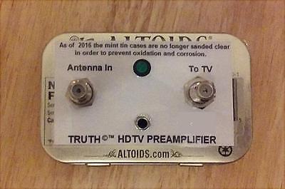 The TRUTH AMP ©™ - UHF VHF HDTV Digital TV Antenna Signal Booster Amplifier