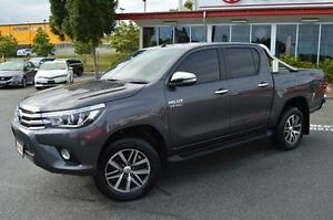 2015 Toyota Hilux GUN126R SR5 Double Cab Grey 6 Speed Sports Automatic Utility Highland Park Gold Coast City Preview