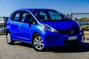2013 Honda Jazz GE MY12 Update Vibe Blue 5 Speed Automatic Hatchback Wangara Wanneroo Area Preview