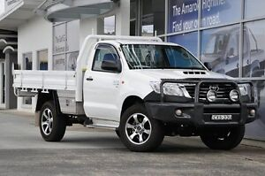 2015 Toyota Hilux White Manual Cab Chassis South Lismore Lismore Area Preview