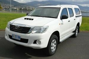 2013 Toyota Hilux KUN26R MY14 SR Double Cab White 5 Speed Manual Utility Derwent Park Glenorchy Area Preview