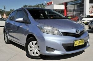 2014 Toyota Yaris NCP130R YR Blue 4 Speed Automatic Hatchback Wyoming Gosford Area Preview