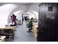 Desk space within fashion studio