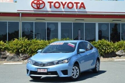 2014 Toyota Corolla ZRE172R Ascent S-CVT Blue 7 Speed Constant Variable Sedan Highland Park Gold Coast City Preview
