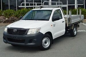 2012 Toyota Hilux TGN16R MY12 Workmate White 5 Speed Manual Cab Chassis Highland Park Gold Coast City Preview