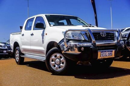 2013 Toyota Hilux KUN26R MY12 SR Double Cab White 4 Speed Automatic Utility Balcatta Stirling Area Preview