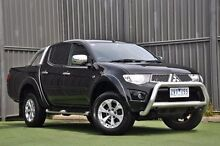 2013 Mitsubishi Triton MN MY13 GLX-R Double Cab Black 5 Speed Sports Automatic Utility Wantirna South Knox Area Preview