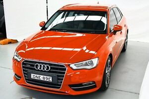 2013 Audi A3 8V Ambition Sportback S tronic quattro Red 6 Speed Sports Automatic Dual Clutch Maryville Newcastle Area Preview