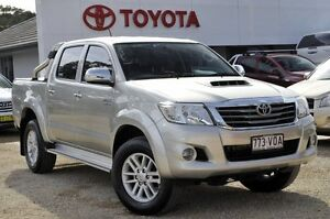 2013 Toyota Hilux KUN26R MY12 SR5 (4x4) Silver 4 Speed Automatic Dual Cab Pick-up Watanobbi Wyong Area Preview