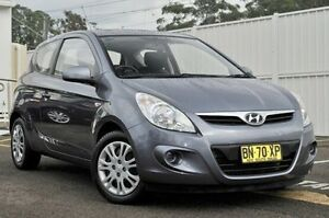 2011 Hyundai i20 PB MY12 Active Grey 4 Speed Automatic Hatchback Gosford Gosford Area Preview