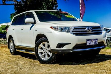 2010 Toyota Kluger GSU40R MY11 KX-R 2WD White 5 Speed Sports Automatic Wagon Wangara Wanneroo Area Preview
