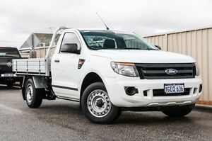 2013 Ford Ranger PX XL 4x2 White 6 Speed Manual Cab Chassis Wangara Wanneroo Area Preview