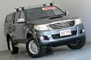 2013 Toyota Hilux KUN26R MY12 SR5 Double Cab Grey 4 Speed Automatic Utility Albion Brisbane North East Preview