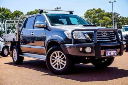2013 Toyota Hilux KUN26R MY14 SR5 Double Cab Grey 5 Speed Manual Utility