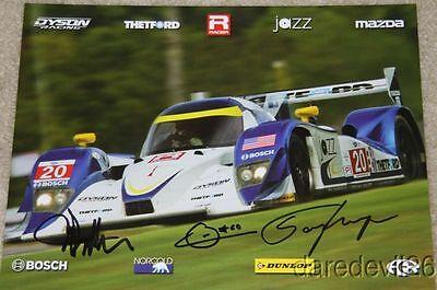 2012 Dyson Racing #20 Mazda Lola LMP1 signed Petit Le Mans ALMS postcard